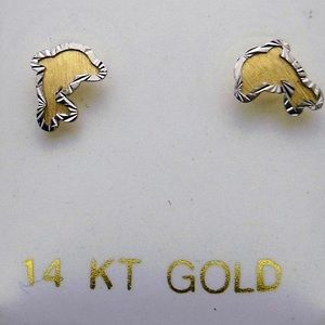 Other - 14K Dolphin Stud Earrings
